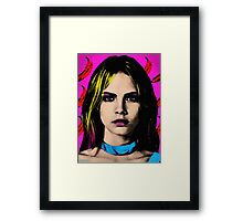 The Perfect Face - Cara Delevingne Framed Print