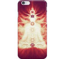 Chakras symbols and energy flow on human body art photo print iPhone Case/Skin
