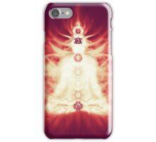 Chakras symbols and energy flow on human body art photo print iPhone Case/Skin