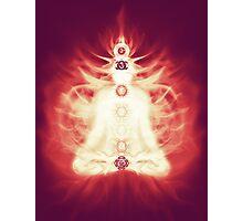 Chakras symbols and energy flow on human body art photo print Photographic Print