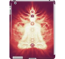 Chakras symbols and energy flow on human body art photo print iPad Case/Skin