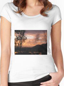 Villeneuve Sunset Women's Fitted Scoop T-Shirt