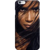 Young exotic woman with long black hair art photo print iPhone Case/Skin