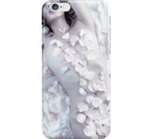 Sensual portrait of beautiful nude asian woman covered with rose petals art photo print iPhone Case/Skin