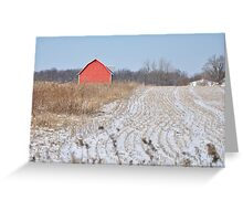 Red barn and field Greeting Card