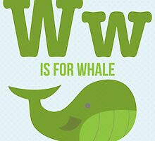 W is for Whale by Amy Huxtable