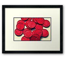 Love Tokens Framed Print