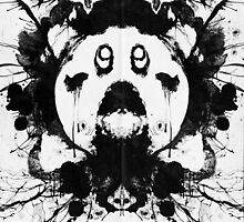 Kirby Ink Blot Geek Psychological Disorders by barrettbiggers