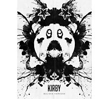 Kirby Ink Blot Geek Psychological Disorders Photographic Print