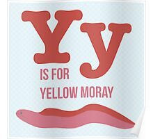 Y is for Yellow Moray Poster