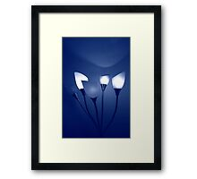 Bouquet of Blue Light Framed Print