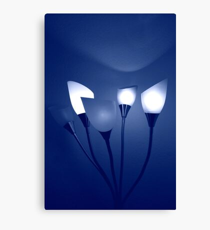 Bouquet of Blue Light Canvas Print