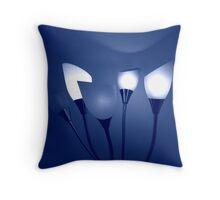 Bouquet of Blue Light Throw Pillow