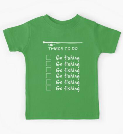 Things To Do - Go Fishing Funny T Shirt Kids Tee