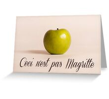 Ceci n'est pas Magritte - pomme Greeting Card