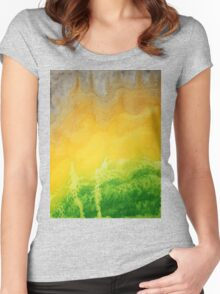 Stormy Mesa original painting Women's Fitted Scoop T-Shirt