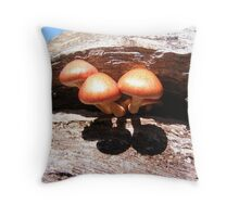 Shroom Stump Throw Pillow