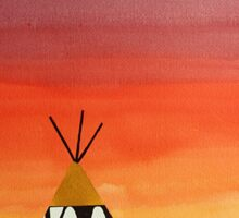 Tepee or Not Tepee original painting Sticker