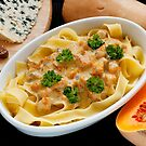 Pappardelle with Butternut Squash and Saint Agur by John Hooton