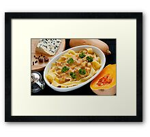 Pappardelle with Butternut Squash and Saint Agur Framed Print