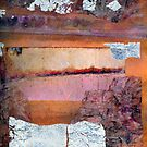 Collage with Silver Leaf 2 by Dana Roper