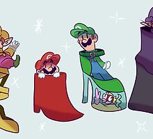 Mario Bros Fancy Shoes by SaradaBoru