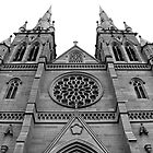 St Mary's Cathedral, Sydney - High Contrast B&W by doughnut