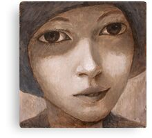 Girl with hat. Canvas Print