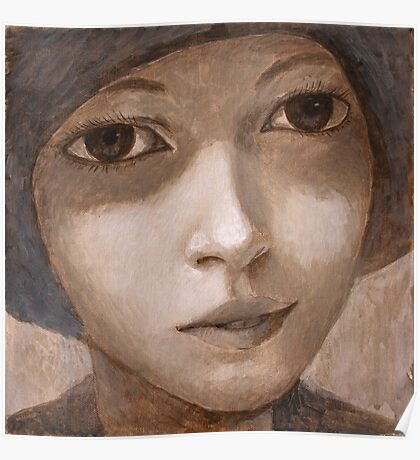 Girl with hat. Poster