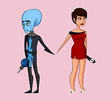 Megamind and Roxanne by AnimaMundi113