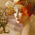 Young woman in flower hat by ipalbus-art