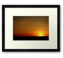 Colours of a Cambridge Gulf Sky Framed Print