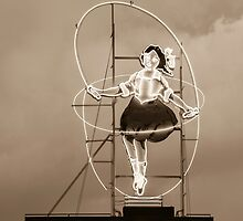 Skipping Girl Sepia by Esther Frieda