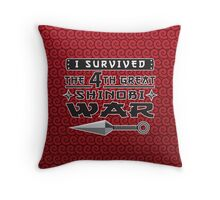 Shinobi war Throw Pillow