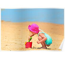 Playtime on the beach Poster