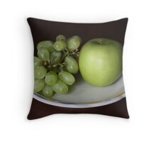 A Green Snack Throw Pillow