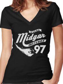 Go Meteors!  Women's Fitted V-Neck T-Shirt