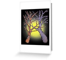 two trees Greeting Card