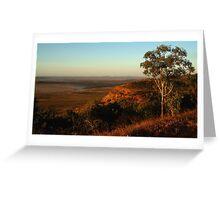 Mud Flats,Cambridge Gulf,viewed from the Bastion Range Greeting Card