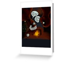 A Spiderman Deadpool Christmas Greeting Card
