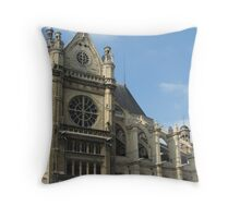 Paris cathedral Throw Pillow