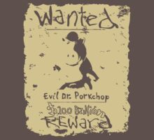 Wanted - Evil Dr. Porkchop One Piece - Short Sleeve