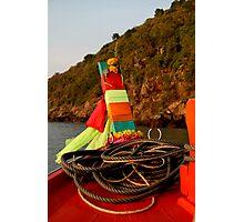 Thai Fishing Boat Bow Photographic Print