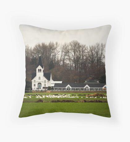 White Elegance Throw Pillow