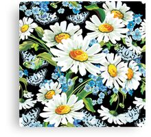 flower design drawstring bas Canvas Print