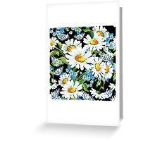 flower design drawstring bas Greeting Card