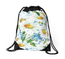 flower design drawstring bas Drawstring Bag