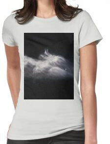 Moon and Clouds Womens Fitted T-Shirt