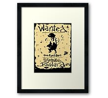 Wanted - One-Eyed Bart Framed Print