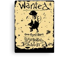 Wanted - One-Eyed Bart Canvas Print